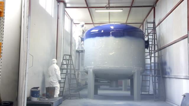 painting big metal tank