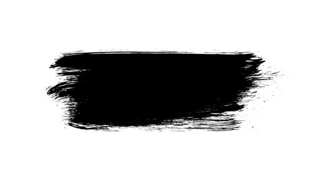 vidéos et rushes de peinture noire brush grunge background pour des titres ou autre votre texte avec un canal alpha. aquarelle art retro vintage abstrait. - pinceau
