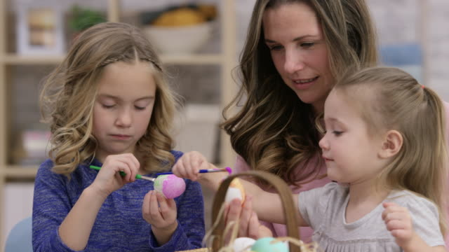 Painting Eggs with Mom video