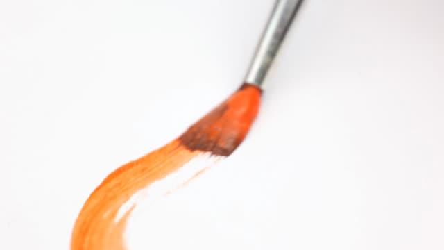malarstwo, makro - pędzel do malowania filmów i materiałów b-roll