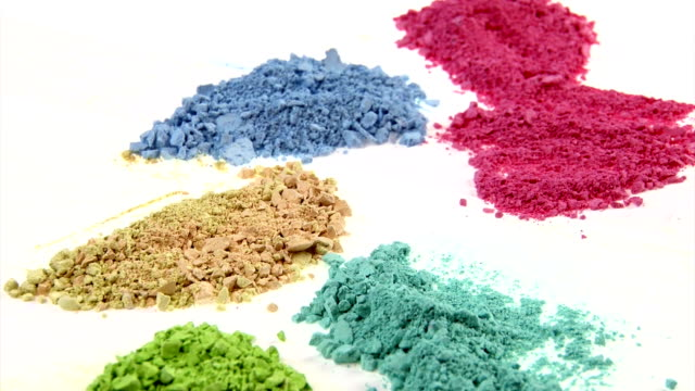 Painting medium colorful powder. video