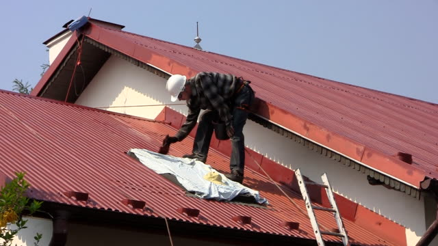 Painting red roof video