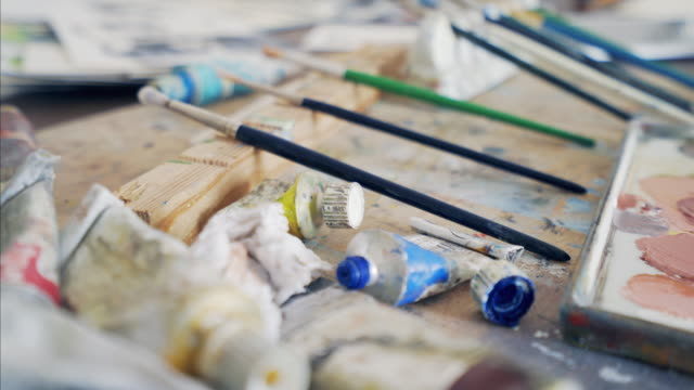 Painting supplies. video