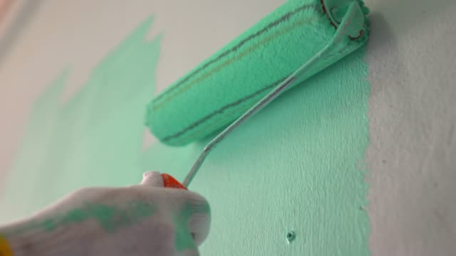 Painting The Wall Painting The Wall house painter stock videos & royalty-free footage