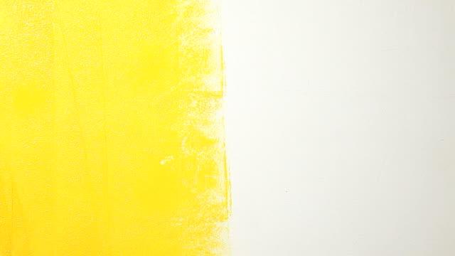 painting - sarı stok videoları ve detay görüntü çekimi