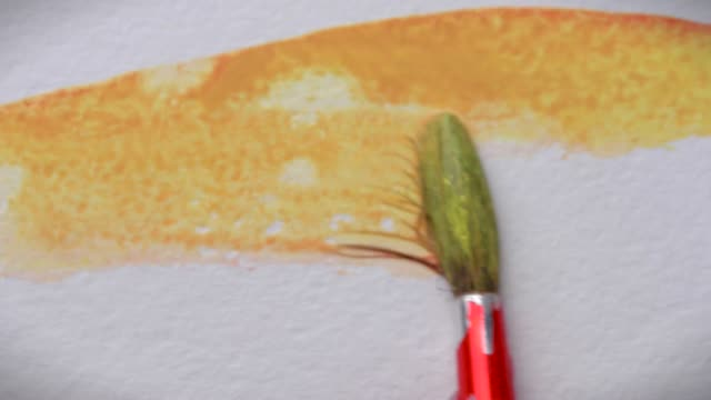 Painting with watercolor video