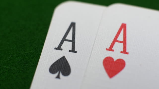Pair of Aces at cards