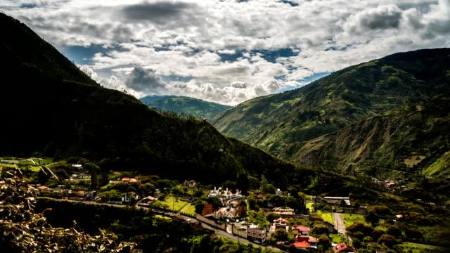paisaje en baños ecuador tiemlapse - vídeo