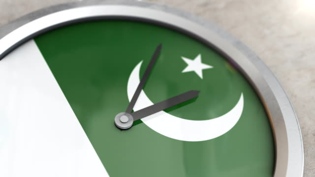 Pakistan Flag Clock Timelapse