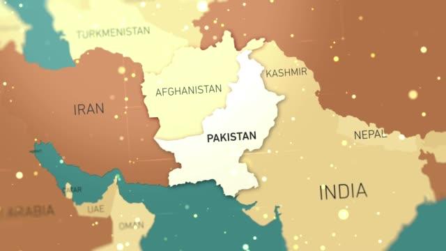 pakistan on world map stock video - hiroshima filmów i materiałów b-roll