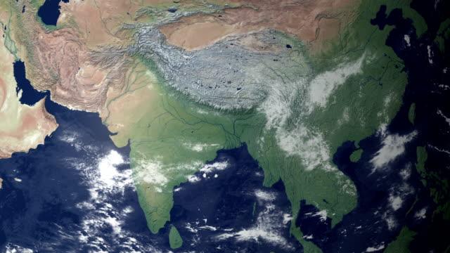 пакистан, требующая после earth увеличить (с альфа-матовый - линия экватора стоковые видео и кадры b-roll