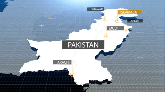 Pakistani  map with label then with out label video