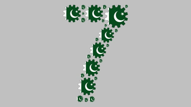 pakistani number seven - 7 star stock videos and b-roll footage