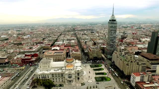 дворец бельяс артес в мехико. - город мехико стоковые видео и кадры b-roll