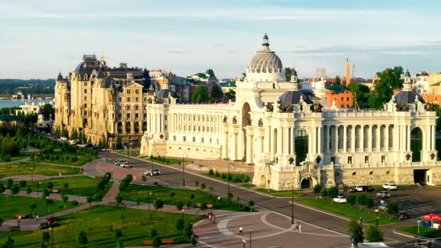 Palace of Farmers in Kazan - Building of the Ministry of agriculture and food, Republic of Tatarstan, Russia video