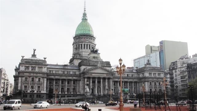 pałac argentyńskiego kongresu narodowego. - argentyna filmów i materiałów b-roll
