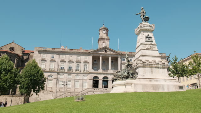Palacio da Bolsa or Stock Exchange Building In Porto City of Porto, Portugal. Tracking shot of its Palacio da Bolsa, or stock exchange palace. palace stock videos & royalty-free footage