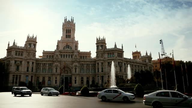 Palacio de Comunicaciones at Plaza Cibeles, Madrid, Spain video