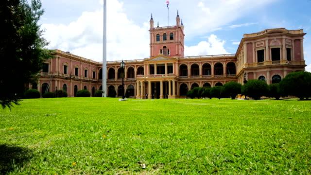palacio de los lopez - парагвай стоковые видео и кадры b-roll
