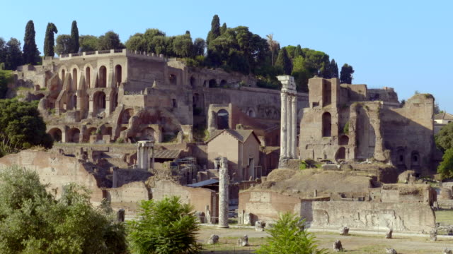 Palatine Hill Roman ruins and Roman Cathedral video