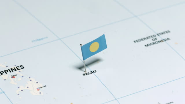 vídeos y material grabado en eventos de stock de palau con la bandera nacional - palaos