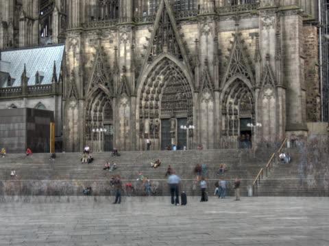 pal: кёльнский собор - центральная европа стоковые видео и кадры b-roll