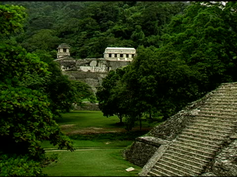 Palenque Palace Mayan Ruins Site in Yucatan Mexico 2 video