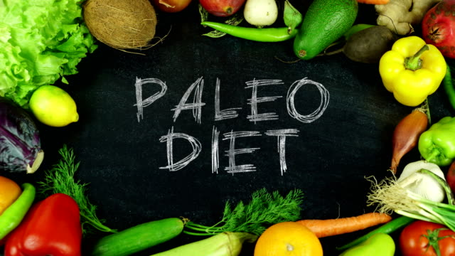 Paleo diet fruit stop motion video
