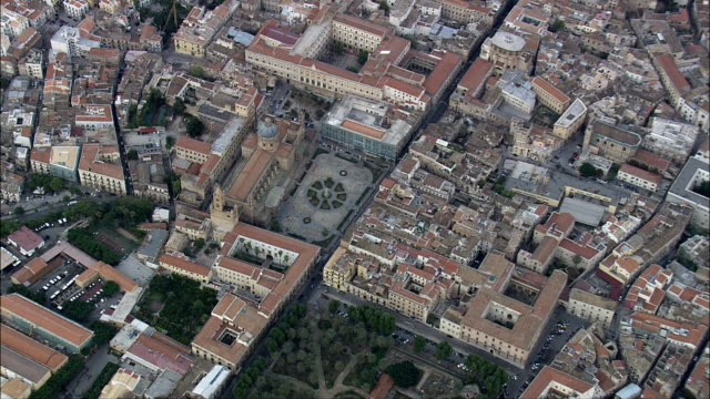 巴勒莫大教堂-空中景觀-西西里島, 巴勒莫省, 巴勒莫, 義大利 - sicily 個影片檔及 b 捲影像