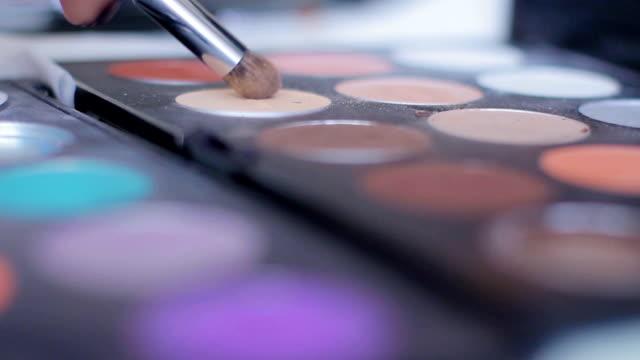 Palette of eyeshadow. video