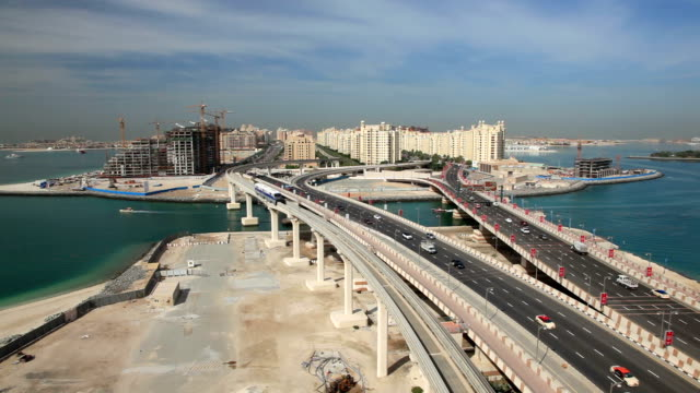 Palm Jumeirah highway in Dubai video