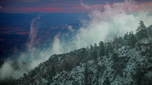 Palm Springs aerial mountains video