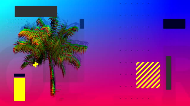 Palm tree with squares and rectangles