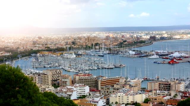 Palma de Mallorca with sun video