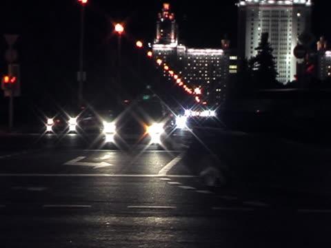 pal.night трафика. - русского происхождения стоковые видео и кадры b-roll