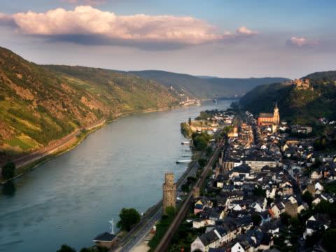 pal: oberwesel - центральная европа стоковые видео и кадры b-roll