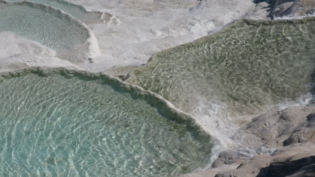 pamukkale travertine and thermal water - geografia fisica video stock e b–roll
