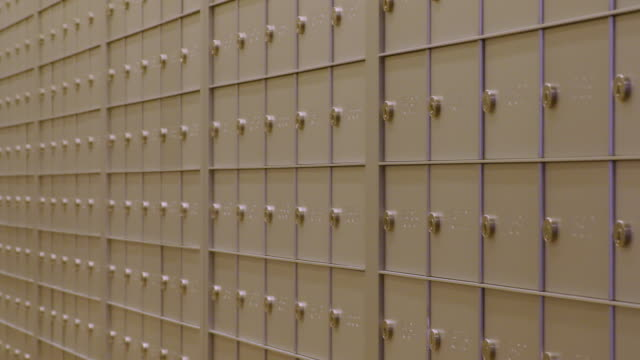 Pan across shot of mailboxes video