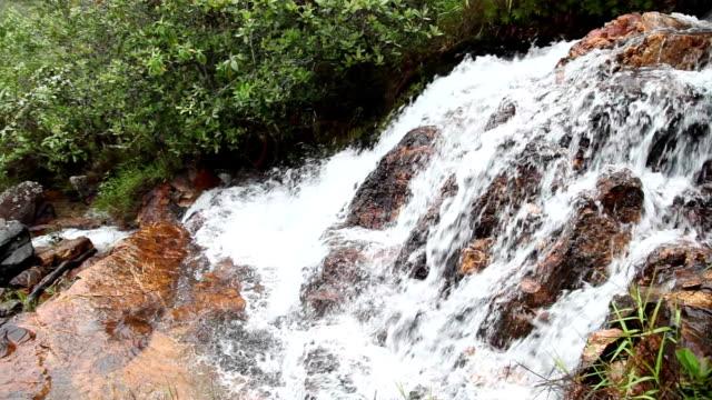 Pan de Cachoeira da Chapada Dos Veadeiros - Goiás - Brasil - vídeo