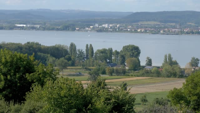 Pan over Lake Constance video