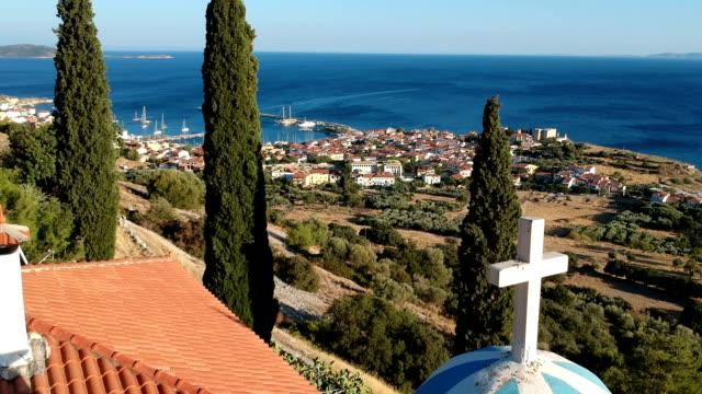 Panagia Spiliani Church, Pithagorio, Samos Island, Greece video