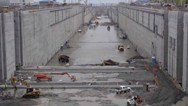 Panama Canal Expansion Site Construction video