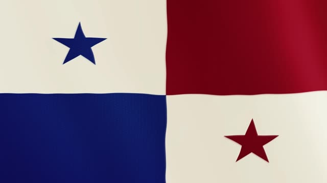 Panama flag waving animation. Full Screen. Symbol of the country video