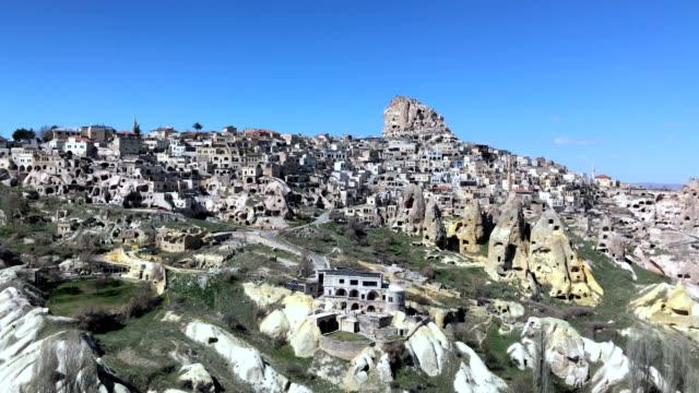 panaromic beskådar av uchisar - stenhus bildbanksvideor och videomaterial från bakom kulisserna