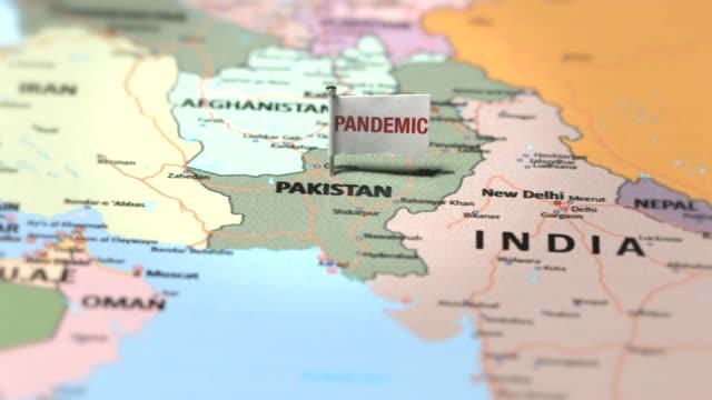 Pandemic flag on Pakistan