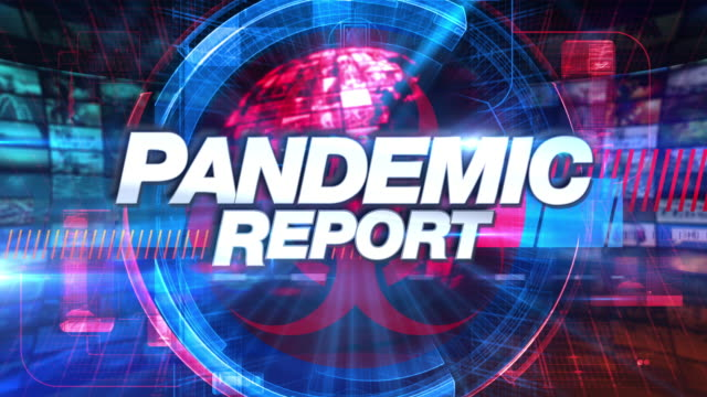 pandemic report - titolo grafico animazione tv multimediale - newspaper paper video stock e b–roll