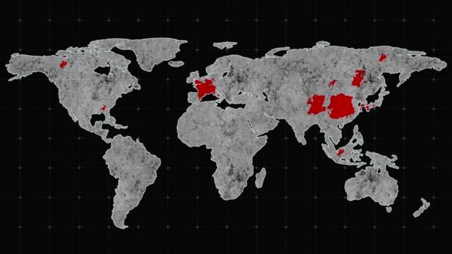 vídeos y material grabado en eventos de stock de pandemia. la epidemia del virus se apodera de todo el planeta. v2 - brote