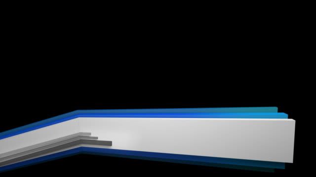 3D Panels Lower Third - Blue (Full HD)