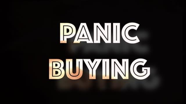 Panik Kauf covid19 Computergrafik – Video