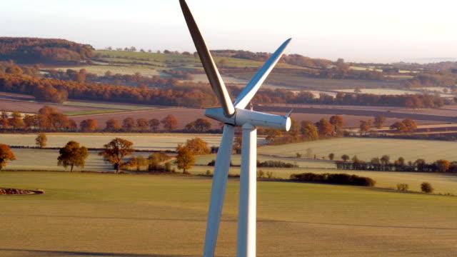Panning across a wind turbine video